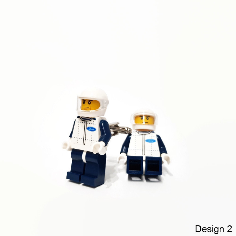 Ford racers minifigure cuff links