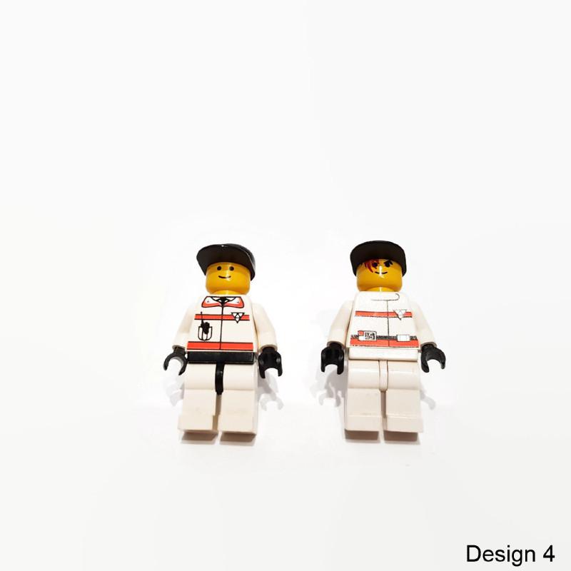 Geeky minifigure cufflinks from lego figures