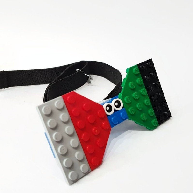 men's plastic bowtie made from lego