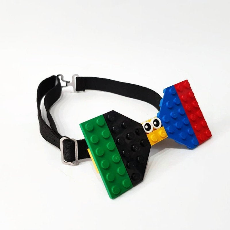 Funny building bricks bow tie with eyes