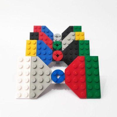 Multicolor brick bowties