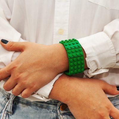 Green elastic bracelet geek jewelry
