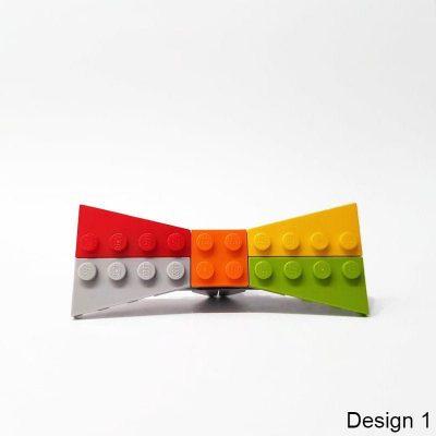 Brick it on colorful bowtie