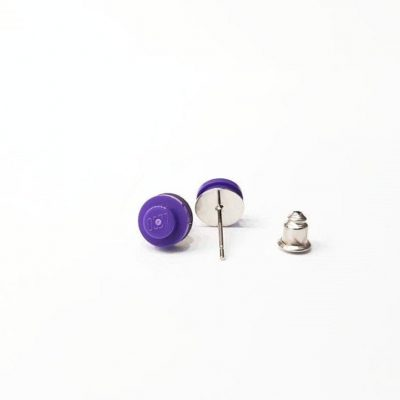 Stud brick earrings 1×1 round