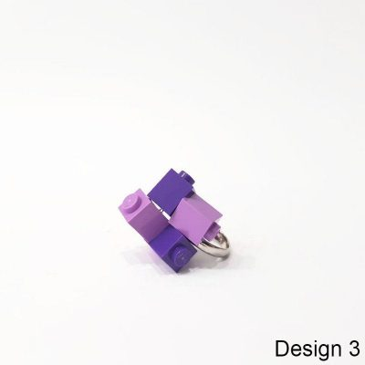 Two-colored brick ring