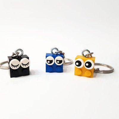 Cool eye brick keychains