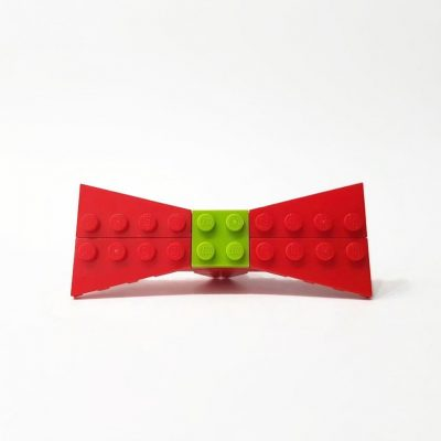 Red small brick bow tie