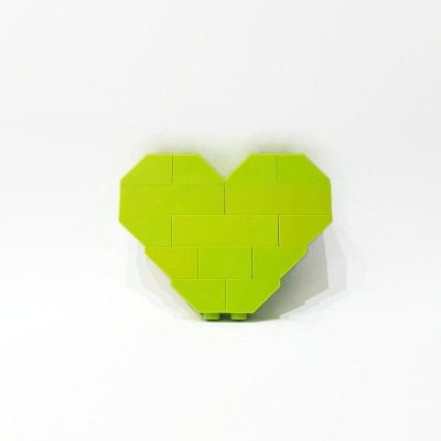 Lime love heart brooch valentines day gift