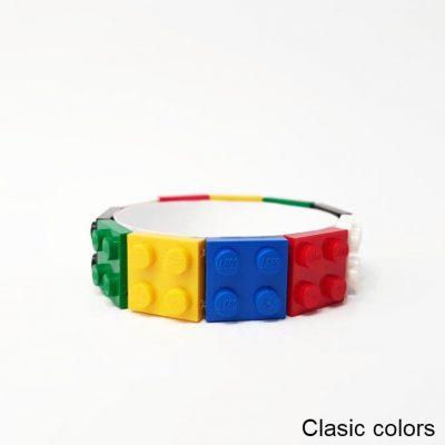 Classic color bracelet made from lego bricks
