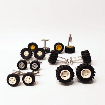 Wheel brick cufflinks