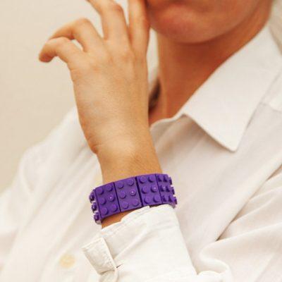 Dark purple handcrafted bangle by thinkbricks