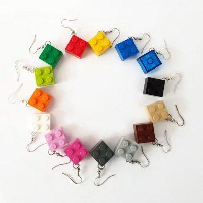 Set drop brick earrings 2×2