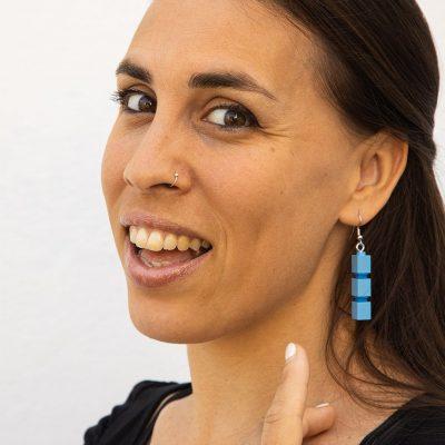 Brick it on drop earrings