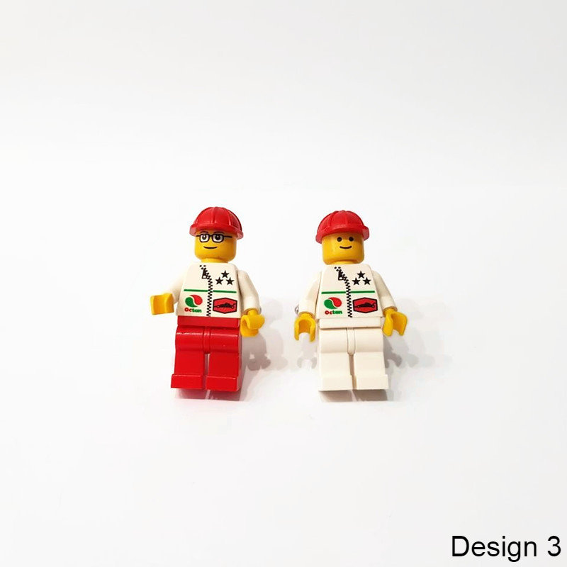 unique cuff links made from minifigs