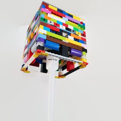 Table light mae from building blocks