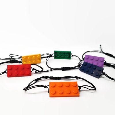 Unisex Charm brick adjustable bracelet