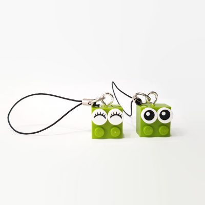 Lime lego bricks accessories for backpack