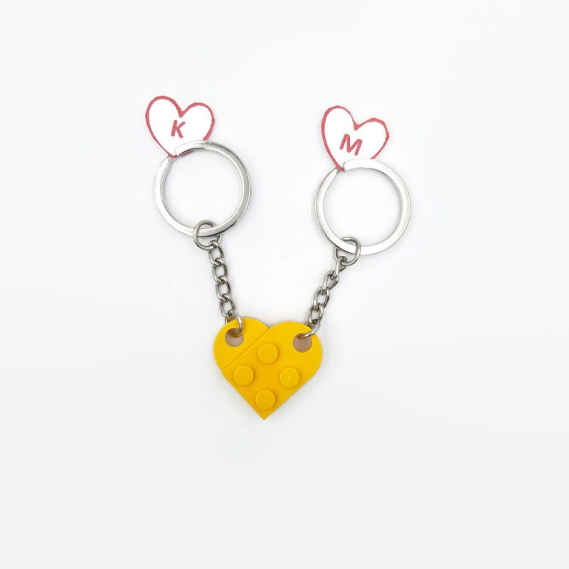 personalized keychain for couples in love