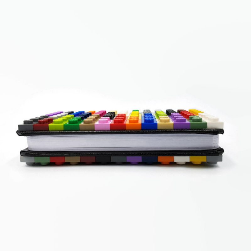 Cool mini notebook A7 with building bricks