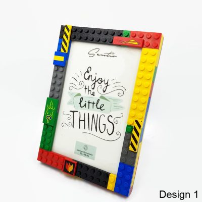 picture frame made from lego bricks