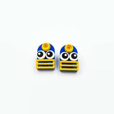 Geeky girls earrings made from lego bricks
