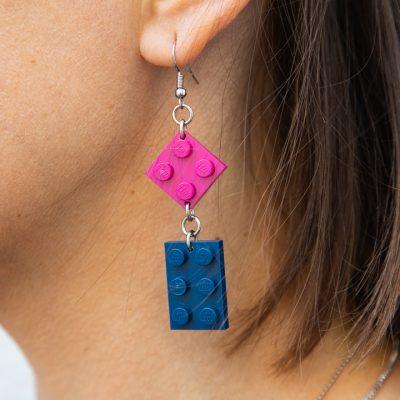 Cool lego earrings for women