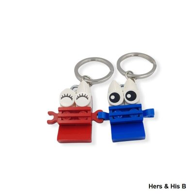 Hers & his keyrings from lego bricks