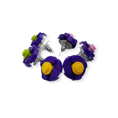 lego earrings for her made by thinkbricks